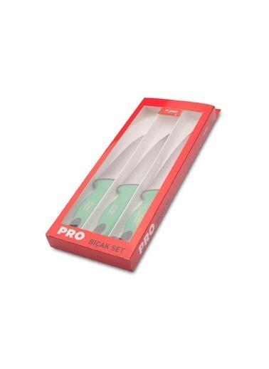Aryıldız Diamond 3'lü Bıçak Seti Yeşil Renkli